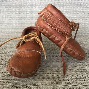 Other - Moccasins Leather Fringe Boy Girl Shoe